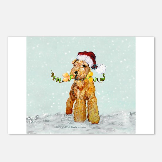 Winter Airedale Postcards (Package of 8)