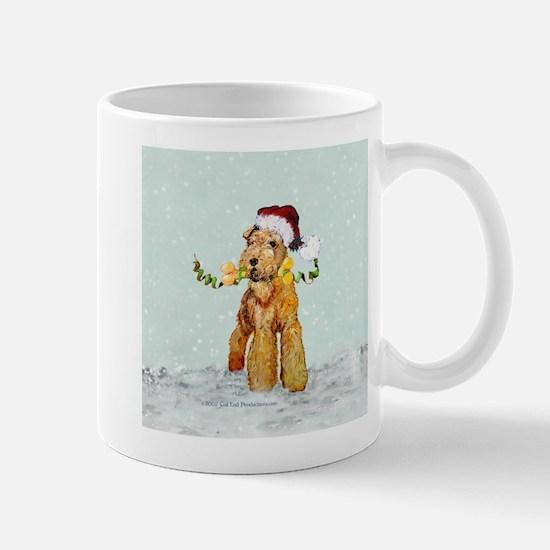 Winter Airedale Mug