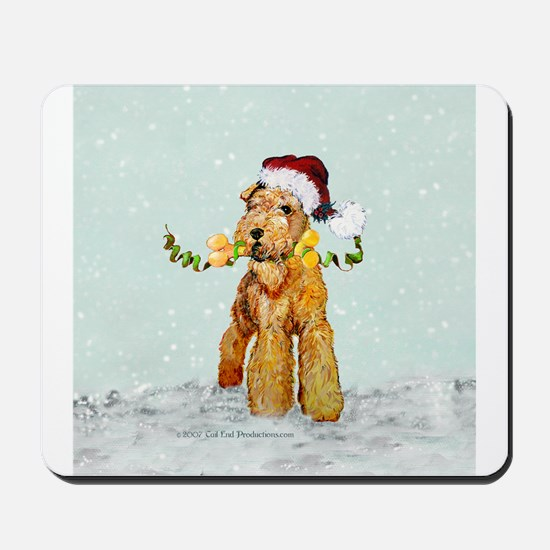 Winter Airedale Mousepad