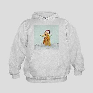 Winter Airedale Kids Hoodie