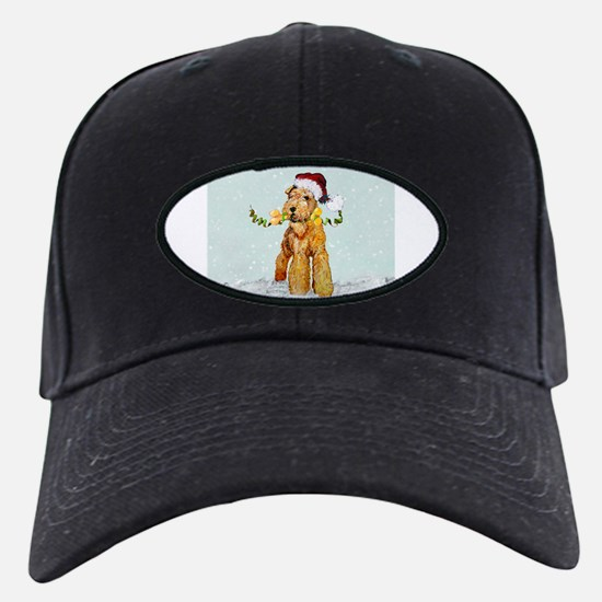 Winter Airedale Baseball Hat