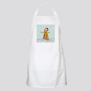Winter Airedale BBQ Apron
