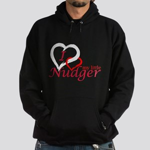 I Love My Little Nudger Hoodie (dark)