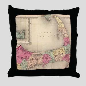 Cape Cod, Martha's Vineyard & Nantuck Throw Pillow