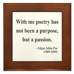 Edgar Allan Poe 10 Framed Tile