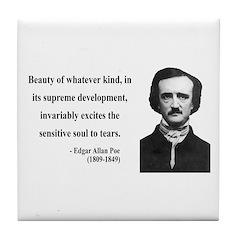 Edgar Allan Poe 11 Tile Coaster