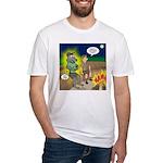 Werewolf Campfire Fitted T-Shirt