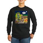 Werewolf Campfire Long Sleeve Dark T-Shirt