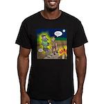 Werewolf Campfire Men's Fitted T-Shirt (dark)