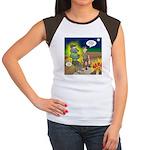 Werewolf Campfire Junior's Cap Sleeve T-Shirt