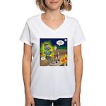 Werewolf Campfire Women's V-Neck T-Shirt