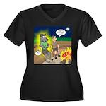 Werewolf Cam Women's Plus Size V-Neck Dark T-Shirt