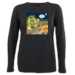 Werewolf Campfire Plus Size Long Sleeve Tee