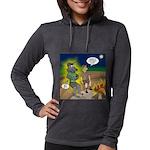 Werewolf Campfire Womens Hooded Shirt