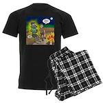 Werewolf Campfire Men's Dark Pajamas