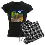 Werewolf Campfire Women's Dark Pajamas