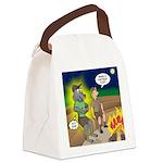 Werewolf Campfire Canvas Lunch Bag