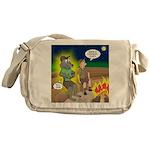 Werewolf Campfire Messenger Bag