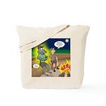 Werewolf Campfire Tote Bag