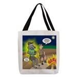 Werewolf Campfire Polyester Tote Bag