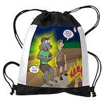 Werewolf Campfire Drawstring Bag