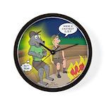 Werewolf Campfire Wall Clock