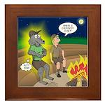 Werewolf Campfire Framed Tile