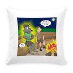 Werewolf Campfire Everyday Pillow