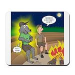 Werewolf Campfire Mousepad