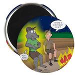 Werewolf Campfire Magnet