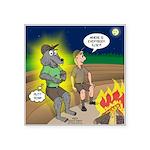 Werewolf Campfire Square Sticker 3