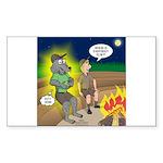 Werewolf Campfire Sticker (Rectangle 10 pk)