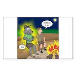 Werewolf Campfire Sticker (Rectangle 50 pk)