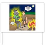 Werewolf Campfire Yard Sign