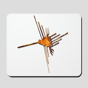 Nazca Hummingbird-rust Mousepad