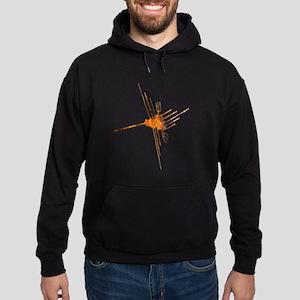 Nazca Hummingbird-rust Hoodie (dark)