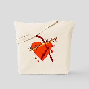 guilty of slashing Tote Bag