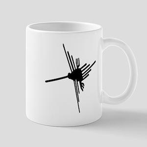 Nazca Hummingbird-black and w Mug