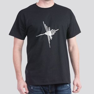 Nazca Hummingbird-black and w Dark T-Shirt