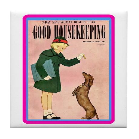 """1950 Good Housekeeping"" Tile Coaster"