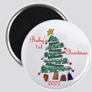 Baby's 1st Christmas 2007 Magnet
