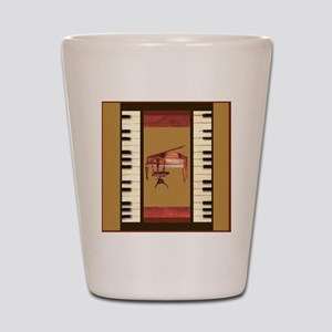 Piano Keys Federal Piano square Shot Glass