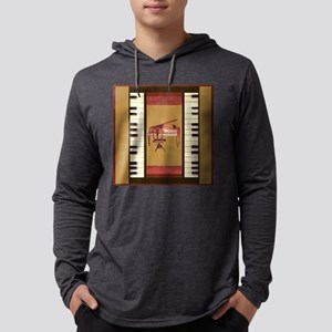 Piano Keys Federal Piano squar Long Sleeve T-Shirt