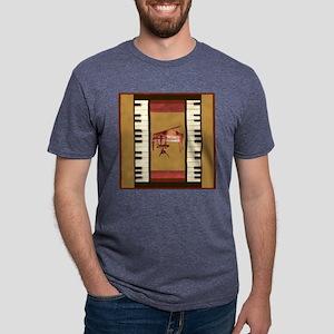 Piano Keys Federal Piano square T-Shirt