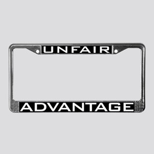 Unfair Advantage License Plate Frame