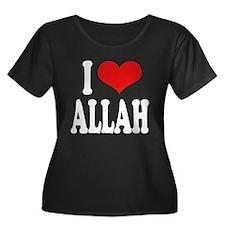 I Love Allah Women's Plus Size Scoop Neck Dark T-S