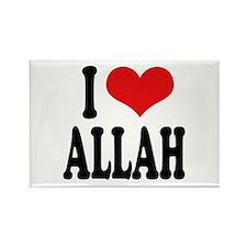 I Love Allah Rectangle Magnet