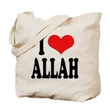 I Love Allah Tote Bag
