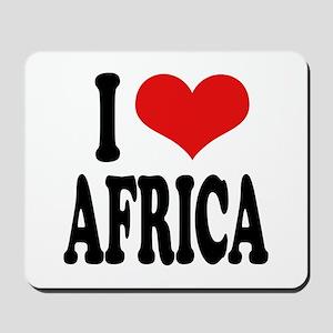 I Love Africa Mousepad