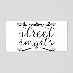 street smarts Aluminum License Plate